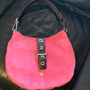 Beautiful rose suede hobo bag Luis Esteve